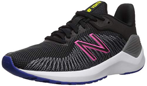New Balance Women's Ventr V1 Running Shoe, Black/Peony, 7.5 W US