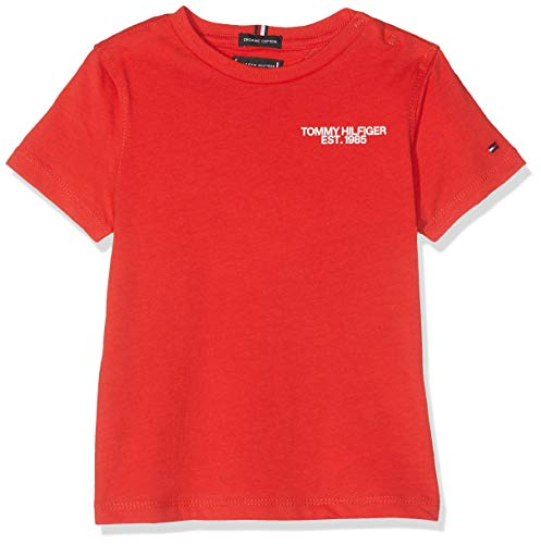 Tommy Hilfiger Solid Wide Rib S//S Tee T-Shirt B/éb/é Fille