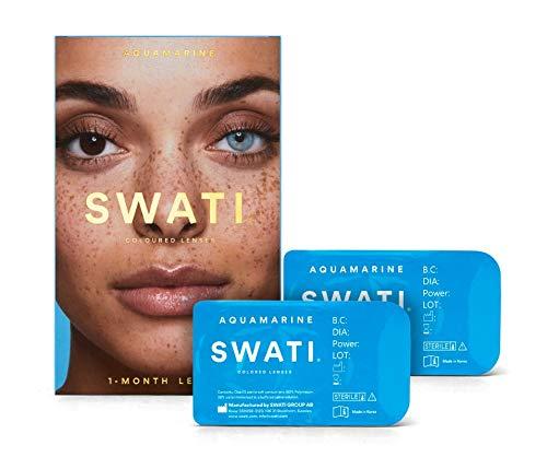 Aquamarine (Blau) - 1 Monate Kontaktlinsen Farbig - SWATI Cosmetics Natürlich Aussehende Kontaktlinsen