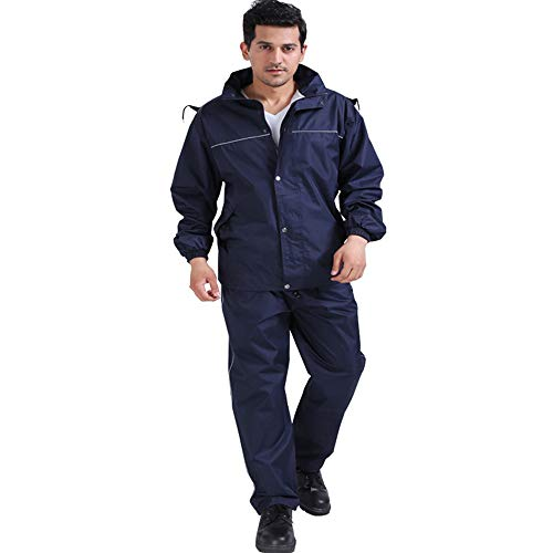 AINUO Traje Impermeable de Moda Impermeable para Hombres y Mujeres, Impermeable para...