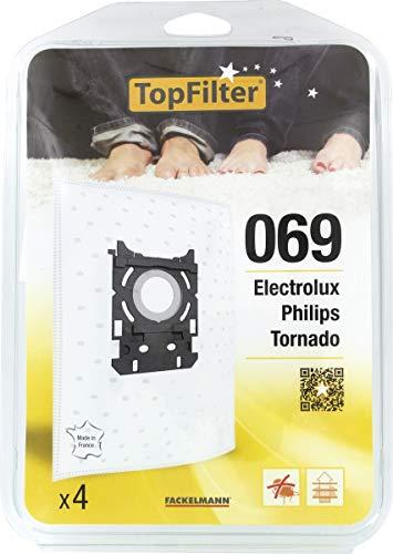 TopFilter 876, 4 sacs aspirateur pour Bosch, Siemens boîte de sacs d'aspiration en non-tissé, 4 sacs à poussière (30 x 26 x 0,1 cm)