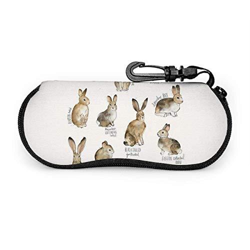 Arvolas Los camellos están cantando Fundas de gafas divertidas para hombres y mujeres con mosquetón Conejo