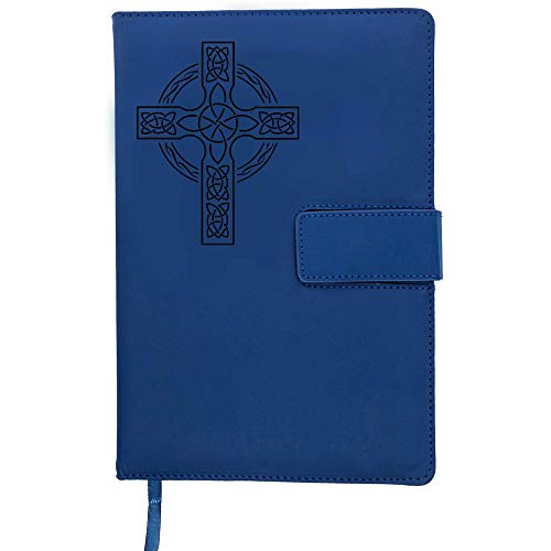 The Celtic Cross - Refillable Writing Journal | Strong Clasp, Faux Leather Journal, 200 Lined Pages, 5 x 8 Inch, A5 | Journals for Writing and Travel Journal For Women and Men from The Amazing Office