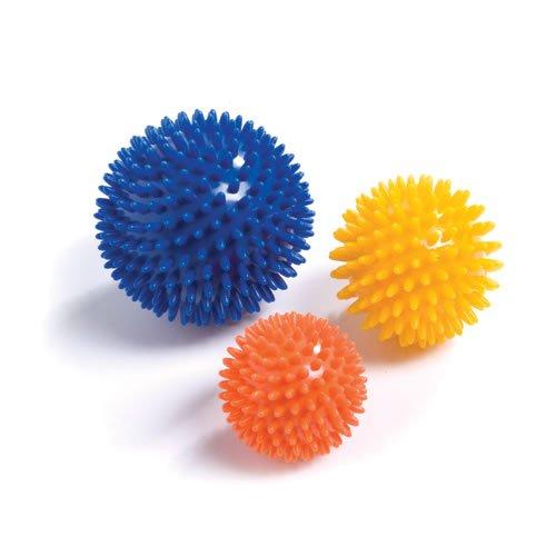 PhysioRoom Spiky Massage 3 Bälle Packung - 6, 8 + 10cm - Igelball, Massageball, Reflex-Ball, Noppenball, Reflexzonenmassage, Handtherapie, Entspannungsübungen, Schmerzlinderung, Muskelstimulation