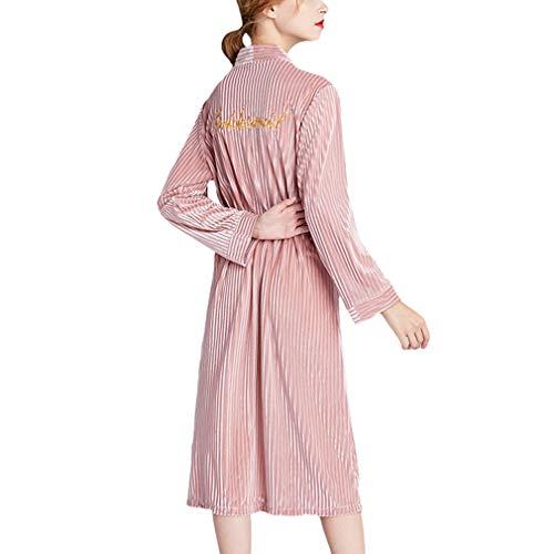 Yying Bordado Terciopelo Novia Bata Boda Mujeres Kimono Albornoz Ropa de Dormir Sexy Dama de Honor Bata Casual Camisón