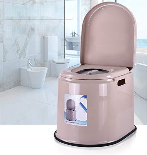 YAeele Antideslizante Salud Permanente en Cuclillas WC - Mover Portable de la Silla de plástico Puede WC for niños y Mujeres Embarazadas Mayores Adecuado para baño.