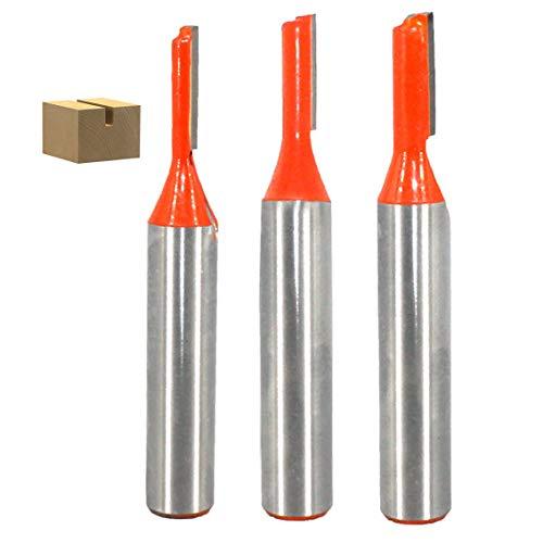 8mm Schaft gerade Router Bit 3 Stück Nutfräser Holzfräser Fräser Professional Nutfräser Standard for Wood