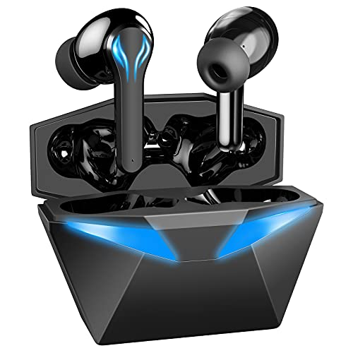 Wireless Earbuds, Bluetooth 5.1 Headphones with Noise Cancelling Bluetooth Earbuds with Charging Case and Built-in Mic, Deep Bass, Touch Control, Waterproof Headset for Gaming 30Hrs Playtime