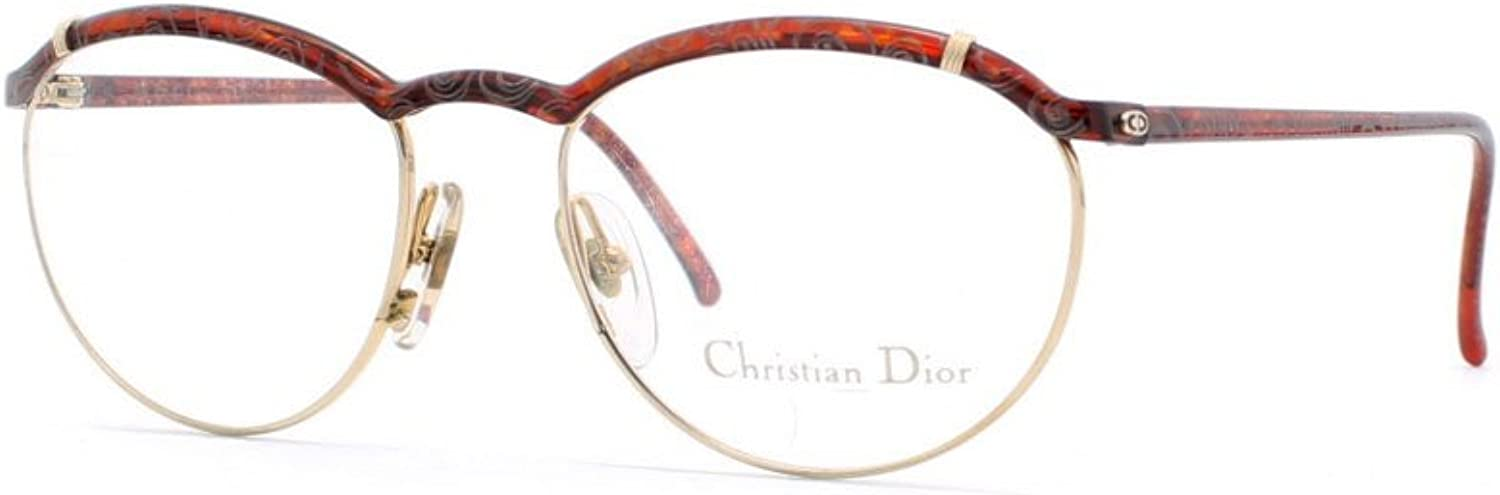 Christian Dior 2599 44 DT Brown and gold and Red Authentic Women Vintage Eyeglasses Frame
