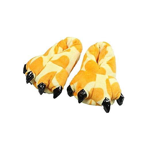 YLOVOW Claws Cotton Slippers Unisexo Otoño Invierno Zapatilla Lana De Coral Animal Pata Zapatos Claw Halloween Cosplay Decor Pantuflas De Felpa,8,L