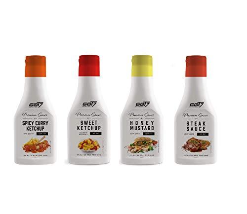 Got7 Premium Sauce - Kalorienfreie Grill, Burger und Würz Sauce - Perfekt zum Abnehmen - 285 ml (3. Mix Box, 4x 285 ml)