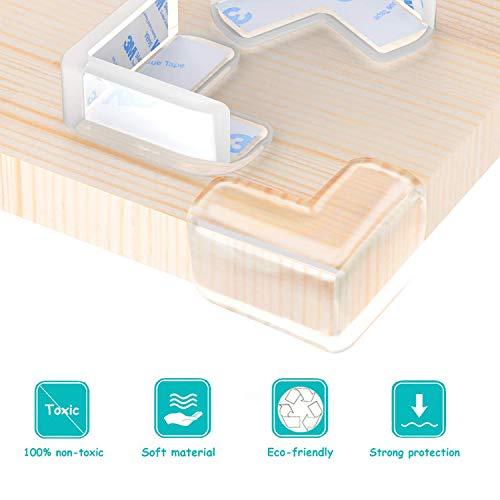 15 pcs GeekerChip Protectores Transparente de Esquinas para Bebes y Ni/ños L Protectores de Esquina para Muebles de Esquinas y Bordes con Adhesivo Fuerte