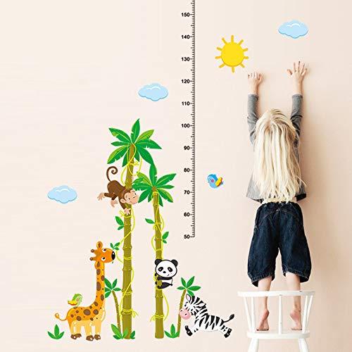 Cartoon Hoogte Liniaal Grafiek Muursticker Aap Giraffe Panda Paard Boom Muursticker Kinderen Muurschildering sticker50X70cm