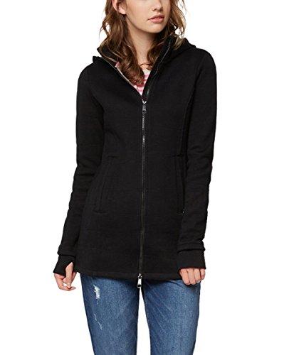 Bench Damen Long Jacket Quilted Mantel, Schwarz (Black Beauty Bk11179), X-Small