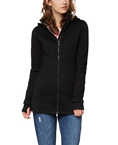 Bench Damen Long Jacket Quilted Mantel, Schwarz (Black Beauty Bk11179), X-Small