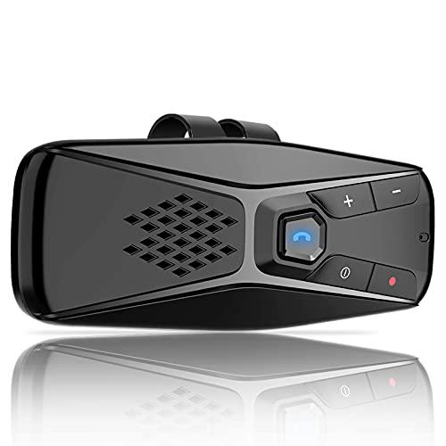 NETVIP Vivavoce Auto Bluetooth Portatile Kit Vivavoce Bluetooth 5.0 Con Accensione Automatica Con Viva Voce, GPS e Musica Senza Fili Kit Vivavoce Bluetooth,Connettività Dual Link