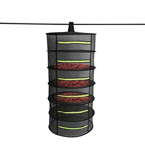 JINBAO Estante de Secado de Hierbas, secador de Red Plegable Colgante, Canasta de Secado con Cremallera Cerrada, para secar Productos Secos, Hierbas medicinales y Verduras