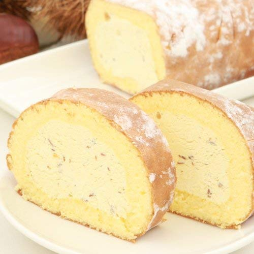新杵堂 マロンスターロール 2本 | 栗風味豊かな植物性のマロンクリーム | ふわふわ軽いロールケーキ