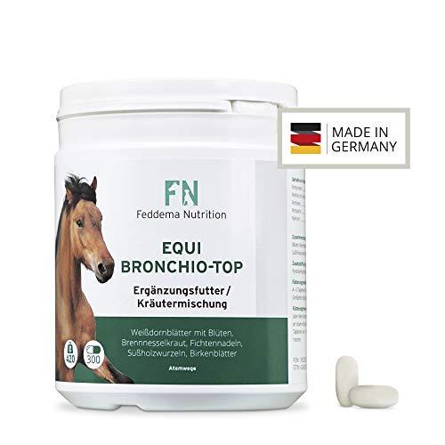 Feddema Equi Bronchio-Top – Pferde-Ergänzungsfutter für Bronchien und Atemwege mit Fichtennadel, Süßholz und Birke