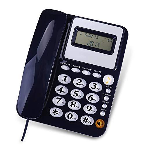 Vaste telefoon, Crystal Button, Handsfree bellen, Redial functie, 24 ringtonen om uit te kiezen. Rood, Zwart, Wit, Donkerblauw