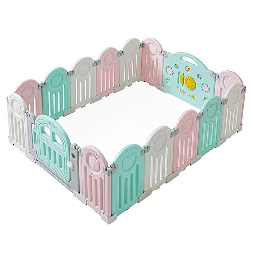 Buy Weilan NBgy Foldable Children's Playpen, Baby Fence, Safety Net, Indoor and Outdoor Playground, ...