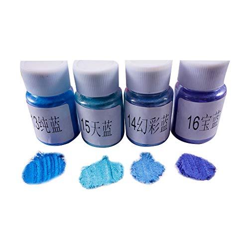 MYA 4 Stück/Set Basteln Kristall Epoxidharz Puder Perlmutt dünn Material Schlamm Kristall...