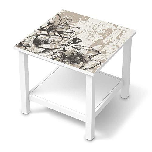 creatisto Möbel Klebefolie passend für IKEA Hemnes Beistelltisch 55x55 cm I Möbelsticker - Möbel-Aufkleber Folie Tattoo I Wohndeko für Wohnzimmer und Schlafzimmer - Design: Styleful Vintage 1