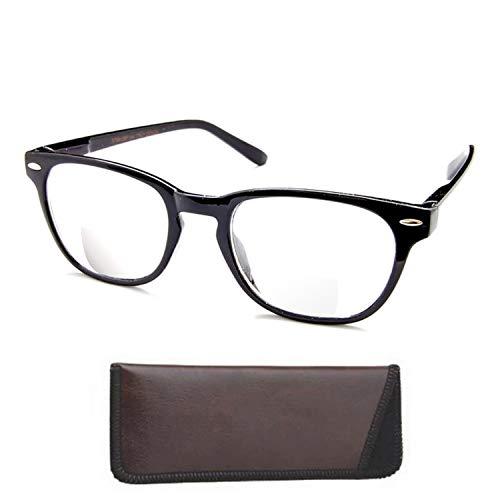 Boomer Eyeware Die Panorama - Qualität Bifocal Lesebrille - Lesebrille Sie können tragen die ganze Zeit !, 00, 1 2 Schwarz