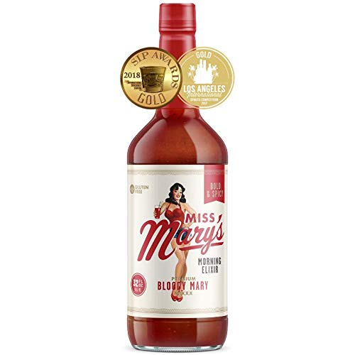 Miss Mary's Morning Elixir Bloody Mary Mix   Gluten Free   No Major Allergens   No High Fructose Corn Syrup   No Artificial Colors   No MSG  