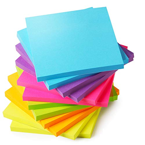 Mr. Pen- Sticky Notes, Sticky Notes 3x3 inch, 12 Pads, Colored Sticky Notes, Sticky Notes, Sticky Note Pads, Stick Notes, Sticky Pad, Colorful Sticky Notes Pack, 3x3 Sticky Notes