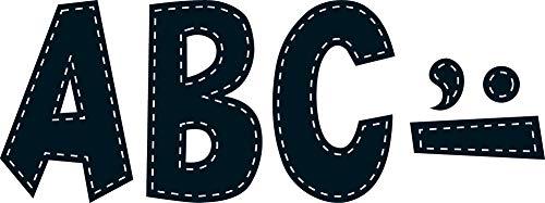Teacher Created Resources Black Stitch 7-Inch Fun Font Letters