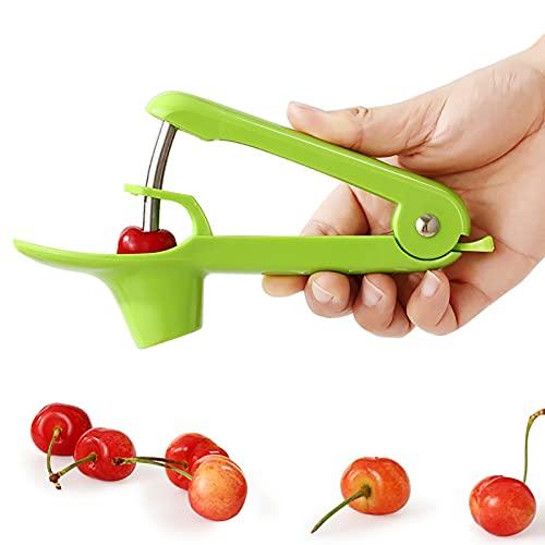 BCGT Kirschentkerner Cherry Pitter, Cherry Seed Remover Tool, Kirschen Corer Pitter-Tool mit platzsparender Lock-Design, Multifunktions-Frucht-Pit-Entferner für die Herstellung von Kirschmarmelade