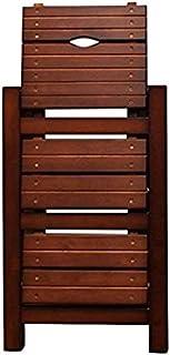 GYX Escalera de mano Pasos prácticos de madera Silla de escalera de 3 escalones Biblioteca ligera para el hogar Taburete de escalera