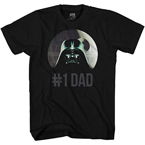 STAR WARS Camiseta para hombre con diseño de Darth Vader para el Día del Padre, Negro, Large