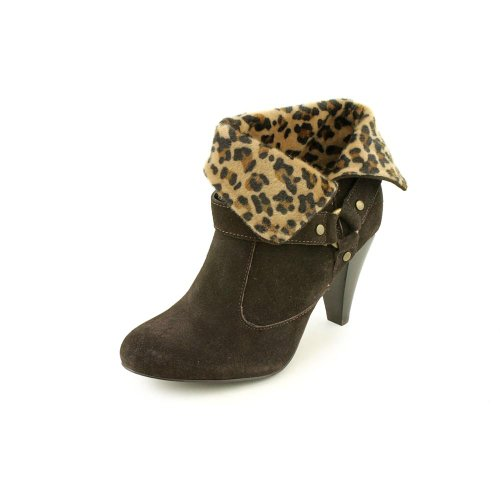 Style & Co Heartbrk Women's Dark Brown Suede Ankle Boots US9.5