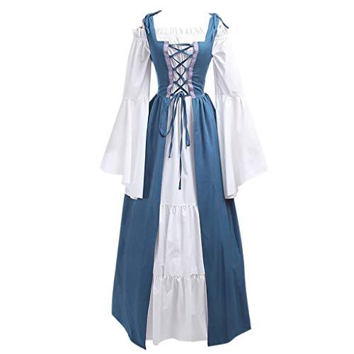 Medieval Vintage Trumpet Cosplay Costume Dress Corset Renaissance Women Gown