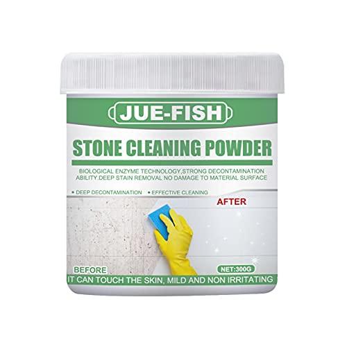 Gidenfly Removedor de manchas de piedra de 30/100/300 g, limpiador de piedras, multiusos para el hogar, azulejos, cocina, descontaminación, polvo, limpieza de pisos, pasta de limpieza