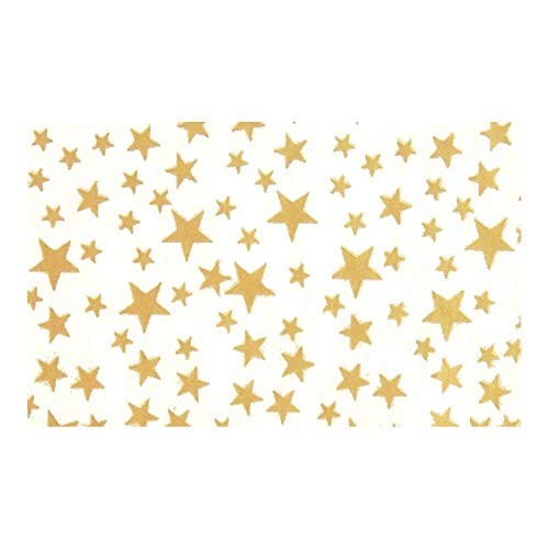 Gold Stars On White Background Tissue Paper - 20in.x30in. - 20 Sheets