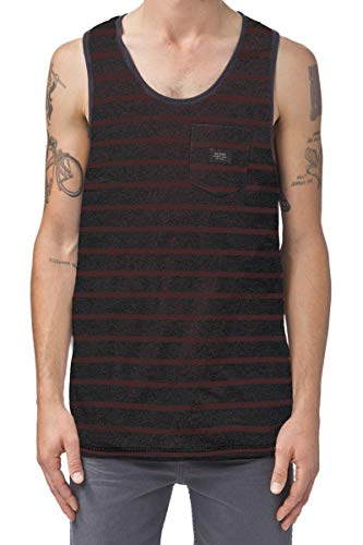 Globe Moonshine Pocket Singlet T-Shirt, Homme XXL Multicolore - Rouge Brique (Brick Slub)