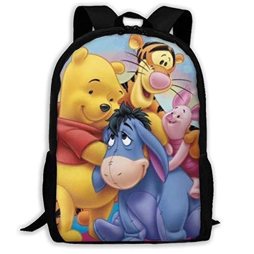 huatongxin Anime Winnie The Pooh, mochila de viaje para adultos, se adapta a mochilas para portátiles de 15,6 pulgadas, mochila escolar, mochila informal para hombres y mujeres