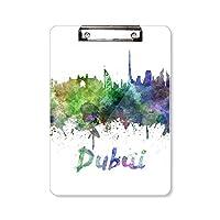 ドバイアラブ首長国連邦市 フラットヘッドフォルダーライティングパッドテストA4