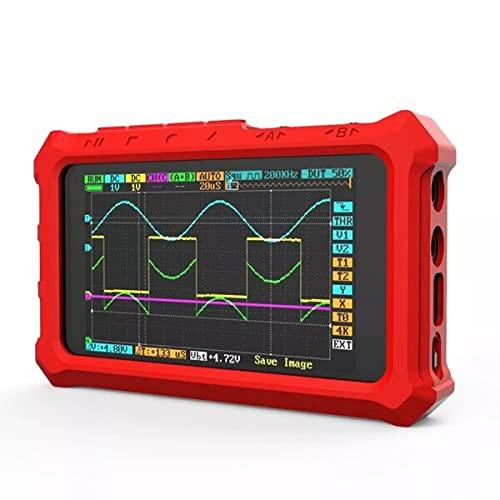 WEI-LUONG Osciloscopio Cubierta Protectora de Silicona para Mini Nano dSO213 DS213 DS203 Osciloscopio Digital DSO Digital DSO 213 DS 213 Bolsa de Almacenamiento portátil (Color : Red)