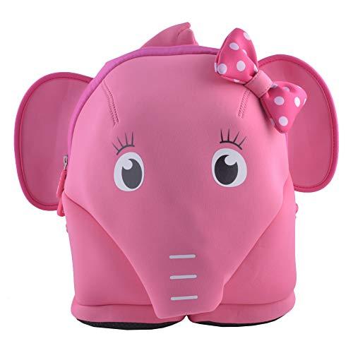 BINGONE Kinderrucksack mit Brustgurt für Jungen und Mädchen im Kindergarten oder Kita für 2 bis 6-Jährige, mit Anti-Lost-System Rosa