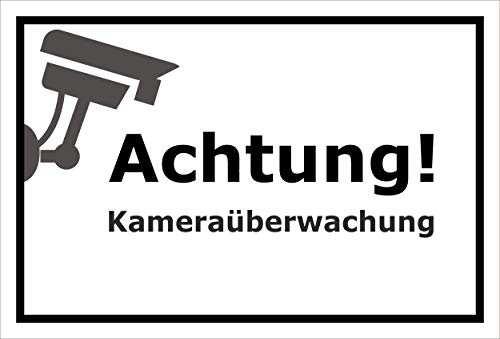 Melis Folienwerkstatt sticker schild - camera-bewaking - S00348-125-A