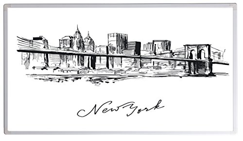 Könighaus Bildheizung (Infrarotheizung mit hochauflösendem Motiv) 5 Jahre Garantie (1000-Zeichnung New York)