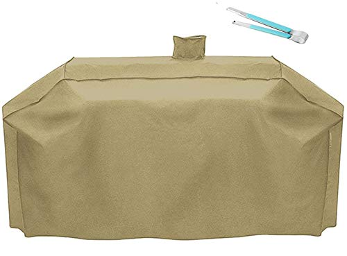RunTo Premium Heavy-Duty Series Pit Boss Memphis Ultimate Grill Cover and Smoke Hollow PS9900 DG1100S 4in1 Combo Grill Cover GC7000 Gas/Charcoal Grill,Tan