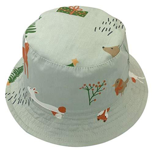 KESYOO Chapéu de sol infantil com aba larga para bebês e caminhadas ao ar livre, Verde menta, 30x30cm