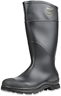 "Servus Comfort Technology 14"" PVC Soft Toe Men's Work Boots,Black - Steel Toe,11"