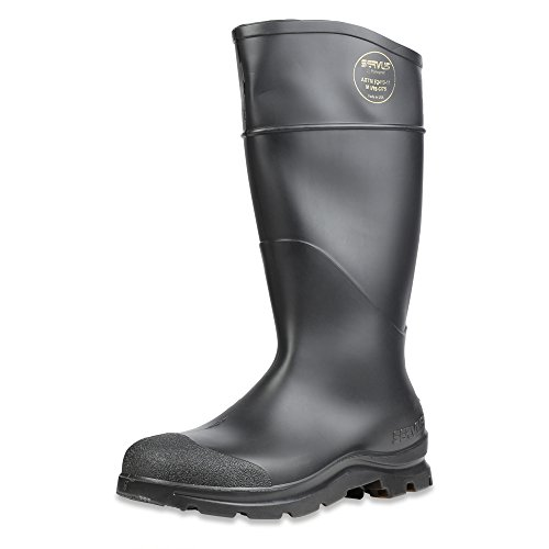 Servus Comfort Technology 14 PVC Steel Toe Mens Work Boots, Black - Steel Toe, 10