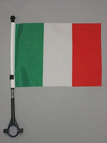 AZ FLAG Bandiera per Bici Italia 21x14cm - GAGLIARDETTO BANDIERINA Italiana 14 x 21 cm